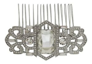 Vintage Inspired Crystal Hair Comb Art Deco Inspired Bridal Hair Comb Wedding