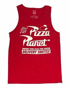 Disney Toy Story Men's Tank Top Pizza Planet Delivery Graphic Tee