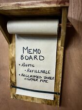Rustic wooden kitchen or man cave note pad, memo / notice /message board.