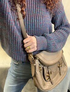 Marc Jacobs Petal to the Metal Natasha Taupe/Gray Leather Handbag
