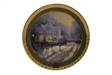 Thomas Kinkade Annual Collector Plate 1999 A Holiday Gathering First Issue Coa