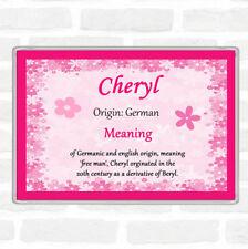 Cheryl Name Meaning Jumbo Fridge Magnet Pink
