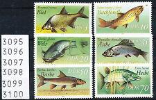 DDR 1987, Süßwasserfische, Satz kompl. (ohne II), postfrisch