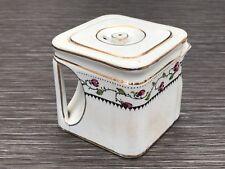 Extremely Rare Art Deco Cube Teapot White Wedgwood & Co Ltd Brit Pat 110951