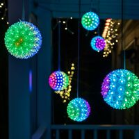 Starlight Sphere LED Christmas Light Ball Indoor Outdoor Holiday Party Lighting