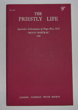 THE PRIESTLY LIFE Apostolic Exhortation Of Pope Pius XII MENTI NOSTRAE Pamphlet