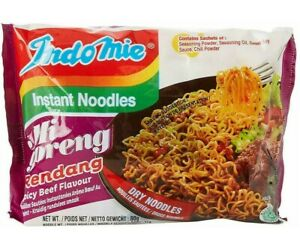 Indomie Mi Goreng Instant Noodles Rendang Spicy Beef - 40 PACKETS