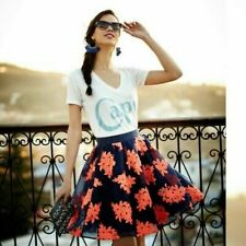 NWT ANTHROPOLOGIE Pome Blossom Embroidered Tulle Skirt By Maeve size 4 $198