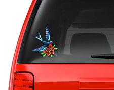 Love Bird Tattoo Art - Full Color Vinyl Decal for Car, Macbook, ect.