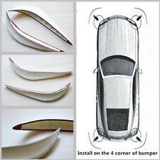 2x White Car Bumper Anti-rub Crash Strip Exterior Protector 3M Sticker Cover Bar