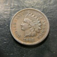 1868 Indian Head Cent XF Extremely Fine Key Date Liberty Penny 1c VF+ EF