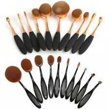 10, 20pcs Oval Makeup Brushes Set Toothbrush Shaped Cosmetics Cream Puff Brush