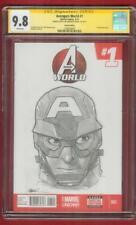 Avengers 1 Variant CGC 9.8 SS Humberto Ramos Captain America Original Art Sketch
