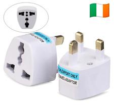 Universal Travel Adapter EU,AU,US/CA To Ireland UK AC Power Plug Adapter. 0227