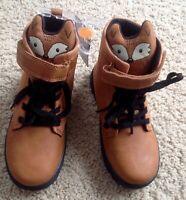 Carter's Kid Boy Brown Fox Boots Size 10 New