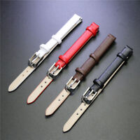 Womens Mens 8mm Genuine Leather Watch Band Soft Plain Wristwatch Bands Strap