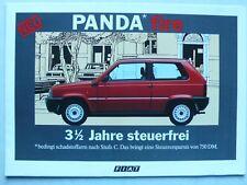 Prospekt Fiat Panda fire 750 L, 1000 CL, 4x4, 6.1986, 8 Seiten, folder