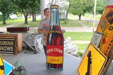 """Large 1942 RC Royal Crown Cola Soda Pop Gas Oil 59"""" Embossed Metal Sign~Nice"""