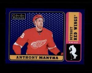 2018-19 O-Pee-Chee Platinum Retro Rainbow Blue #R23 Anthony Mantha /149 (R3427)