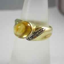 Aparter Ring aus Gold 585 mit Citrin und Diamanten