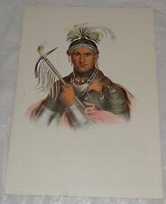 1874 Antique INDIAN Print in COLOR/CORNPLANTER, CHIEF WARRIOR