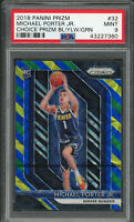 Michael Porter Jr 2018 Panini Prizm Blue Yellow Green Rookie Card #32 PSA 9 MINT