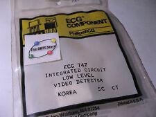 Sylvania ECG747 IC Low Level Video Detector Limiter NTE747 NOS Qty 1