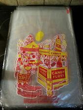 Cotton Candy Floss Bags Fairground Print 12 X 50