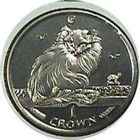 elf Isle of Man IOM 1 Crown 1995 Turkish  Cat