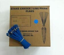 """Smi-Carr 6"""" Stake Chaser® Whiskers/Line Mark® Flags, Blue - 1000 Count"""