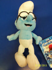"""The Smurfs 2 Movie Smurf Gift Collectible Stuffed Toy 8"""" Plush Doll - Brainy"""