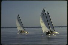 151074 tres Hielo barcos Brillante A4 Foto Impresión
