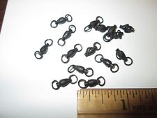 12 PCS. SAMPO SWIVELS WELDED RING BOTH-N- / SIZE 2 BLACK FINISH / 45 LBS. TEST