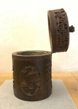 More details for chinese 19th century bamboo tea caddy. est. 1880