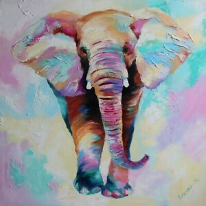 Cute Elephant Animal Colourful Paint Home Decor Wall Art Poster/Canvas Picture