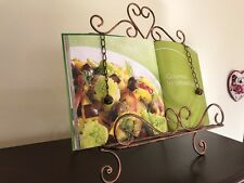 Country Iron Scroll Recipe Holder Book Picture Stand CPR