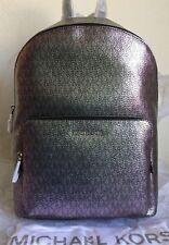 NWT MICHAEL MICHAEL KORS Wythe Large Logo Iridescent Backpack $328