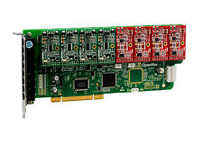 OpenVox A800P44 8 Port Analog PCI Base Card + 4 FXS + 4 FXO, Ethernet (RJ45)