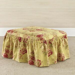 Sure Fit® Ballad Bouquet by Waverly™ Ottoman Slipcover in  tea stain new stock b