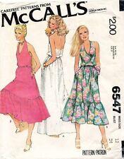 1970's VTG McCall's Misses' Dress Pattern 6547 Size 12 UNCUT