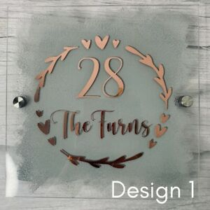 Personalised house signs/Personalised house plaque/house sign + Fitting Kit