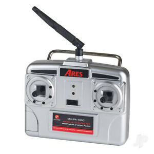 Ares 2.4GHz 4-Channel Transmitter with 100mA Charger (Hitec Red) (Sopwith, Fokke