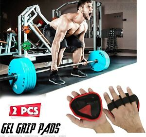 EVO Weight Lifting Gel Palm Grips Rubber Hand Support Wraps Gym Pull Up Straps