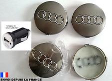 4 logo audi caches moyeu jante, centre de roue 60 mm Neuf 4B0601170