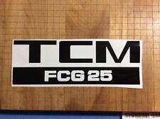 1 Tcm Forklift Decal Sticker Model Fcg25 Black Decal 10 X 3.5