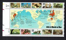 USA...1941 WORLD AT WAR...29 cent SHEET...MUH