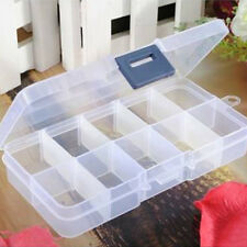 BL_ 10 Compartments Clear Plastic Storage Box Jewelry Bead Screw Container Raptu