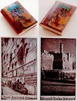 1930 Palestine MINIATURE Jewish BEZALEL OLIVE WOOD PSALMS Israel JERUSALEM Bible