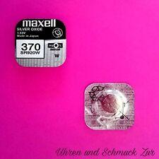 1x Maxell 370 Uhren Batterie Knopfzelle SR920W AG6 Silberoxid Blisterware Neu
