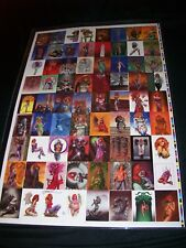 The Definitive Dawn Uncut Card Sheet Signed by Joseph Michael Linsner #103/299
